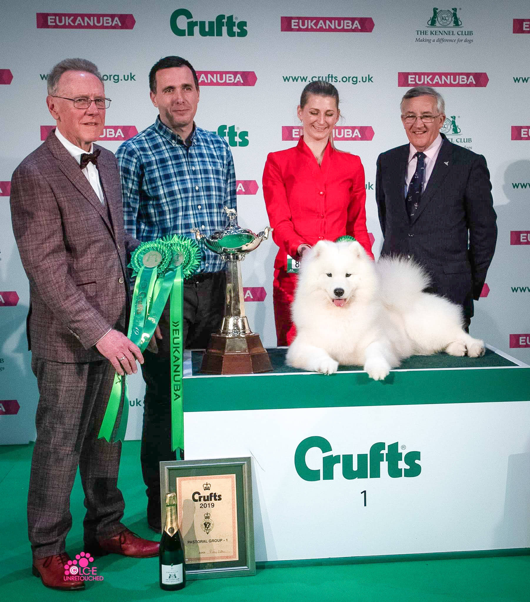 Charleen wins Pastoral group at Cruft's 2019